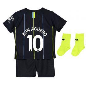 Manchester City Away Stadium Kit 2018-19 - Infants with Kun Agüero 10 printing