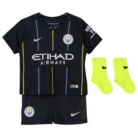 Manchester City Away Stadium Kit 2018-19 - Infants with Sané 19 printing
