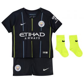 Manchester City Away Stadium Kit 2018-19 - Infants with Sterling 7 printing