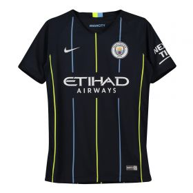 Manchester City Away Stadium Shirt 2018-19 - Kids with Delph 18 printing