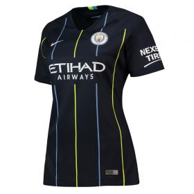 Manchester City Away Stadium Shirt 2018-19 - Womens with Delph 18 printing