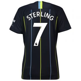 Manchester City Away Stadium Shirt 2018-19 - Womens with Sterling 7 printing