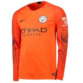 Manchester City Home Goalkeeper Stadium Shirt 2018-19 - Long Sleeve - Kids with Ederson M. 31 printing