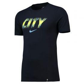Manchester City Pre Season T-Shirt - Dark Blue