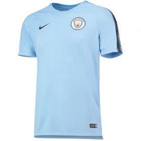 Manchester City Squad Training Top - Light Blue