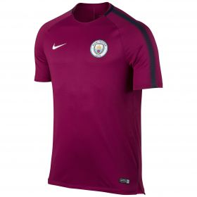 Manchester City Squad Training Top - Maroon