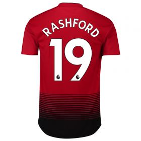 Manchester United Home Adi Zero Shirt 2018-19 with Rashford 19 printing