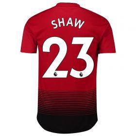 Manchester United Home Adi Zero Shirt 2018-19 with Shaw 23 printing
