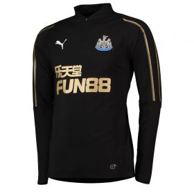 Newcastle United 1/4 Training Top - Black