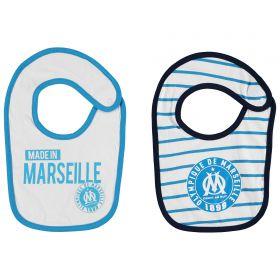 Olympique de Marseille 2PK Bibs - White/Blue - Baby