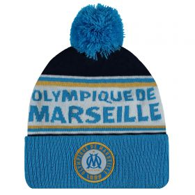 Olympique de Marseille Bobble Hat - Blue - Kids