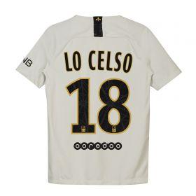 Paris Saint-Germain Away Stadium Shirt 2018-19 - Kids with Lo Celso 18 printing