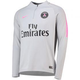 Paris Saint-Germain Squad Drill Top - Grey