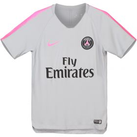 Paris Saint-Germain Squad Training Top - Grey - Kids