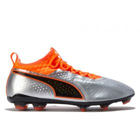 Puma One 2 Leather Firm Ground Football Boots - Silver