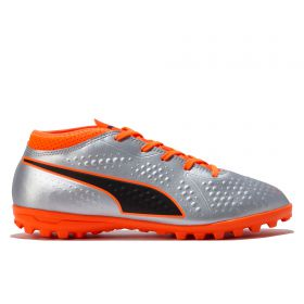 Puma One 4 Synthetic Astroturf Trainers - Silver - Kids