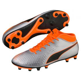 Puma One 4 Synthetic Firm Ground Football Boots - Silver