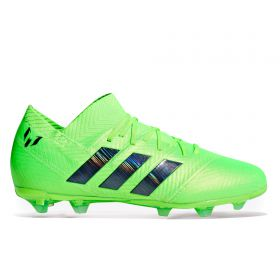 adidas Nemeziz Messi 18.1 Firm Ground Football Boots - Green - Kids