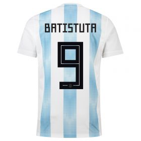 Argentina Home Legends Shirt 2018 with Batistuta 9 printing
