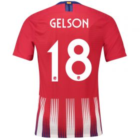 Atlético de Madrid Home Cup Vapor Match Shirt 2018-19 with Gelson 18 printing