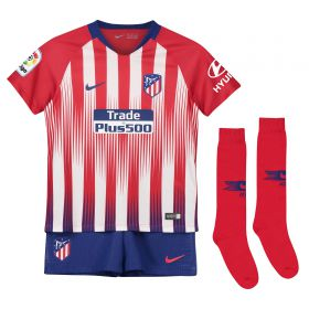 Atlético de Madrid Home Stadium Kit 2018-19 - Little Kids with Lucas 19 printing