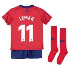 Atlético de Madrid Home Stadium Kit 2018-19 - Little Kids with Lemar 11 printing