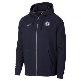 Chelsea Venue Full Zip Hoodie - Dark Blue