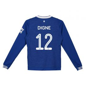 Everton Home Cup Shirt 2018-19 - Kids - Long Sleeve with Digne 12 printing