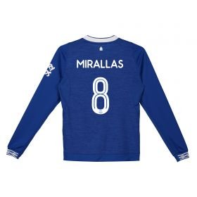 Everton Home Cup Shirt 2018-19 - Kids - Long Sleeve with Mirallas 8 printing
