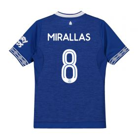 Everton Home Cup Shirt 2018-19 - Kids with Mirallas 8 printing