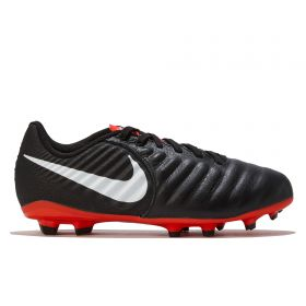 Nike Tiempo Legend 7 Academy Multi-Ground Football Boot - Black/Red - Kids