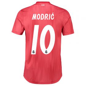 Real Madrid Third Authentic Shirt 2018-19 with Modric 10 printing