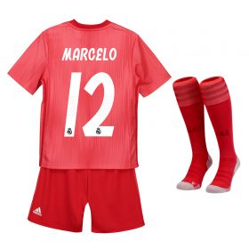 Real Madrid Third Kids Kit 2018-19 with Marcelo 12 printing