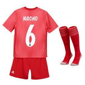 Real Madrid Third Kids Kit 2018-19 with Nacho 6 printing