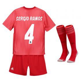 Real Madrid Third Kids Kit 2018-19 with Sergio Ramos 4 printing