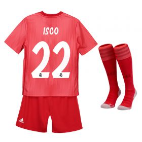 Real Madrid Third Mini Kit 2018-19 with Isco 22 printing