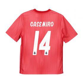 Real Madrid Third Shirt 2018-19 - Kids with Casemiro 14 printing