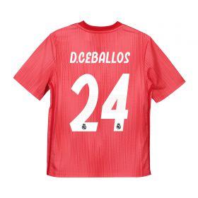 Real Madrid Third Shirt 2018-19 - Kids with D. Ceballos 24 printing