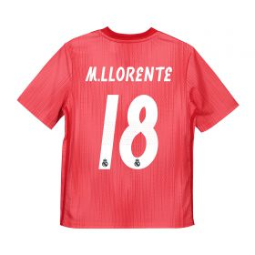 Real Madrid Third Shirt 2018-19 - Kids with M. Llorente 18 printing