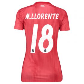 Real Madrid Third Shirt 2018-19 - Womens with M. Llorente 18 printing