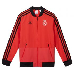 Real Madrid UCL Training Presentation Jacket - Red - Kids