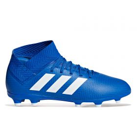 adidas Nemeziz 18.3 Firm Ground Football Boots - Blue - Kids