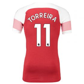 Arsenal Authentic evoKNIT Home Shirt 2018-19 with Torreira 11 printing