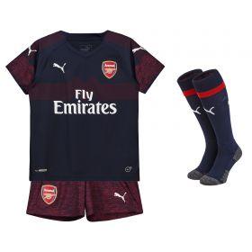 Arsenal Away Mini Kit 2018-19 with Guendouzi 29 printing