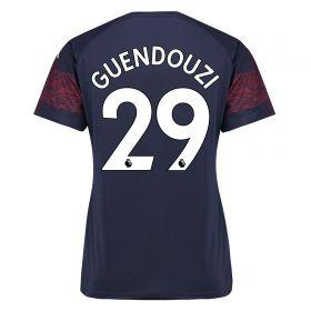 Arsenal Away Shirt 2018-19 - Womens with Guendouzi 29 printing