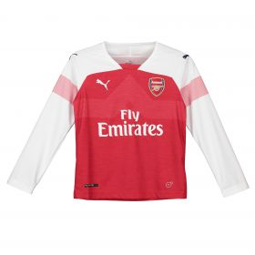 Arsenal Home Shirt 2018-19 - Kids - Long Sleeve with Lichtsteiner 12 printing