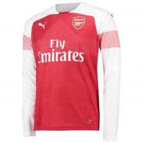 Arsenal Home Shirt 2018-19 - Long Sleeve with Guendouzi 29 printing