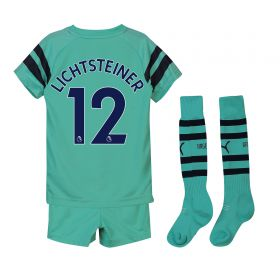 Arsenal Third Mini Kit 2018-19 with Lichtsteiner 12 printing