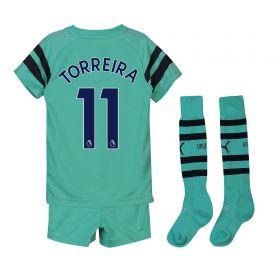 Arsenal Third Mini Kit 2018-19 with Torreira 11 printing