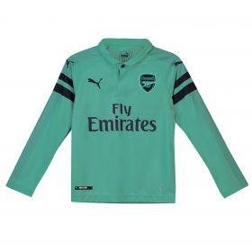 Arsenal Third Shirt 2018-19 - Kids - Long Sleeve with Guendouzi 29 printing